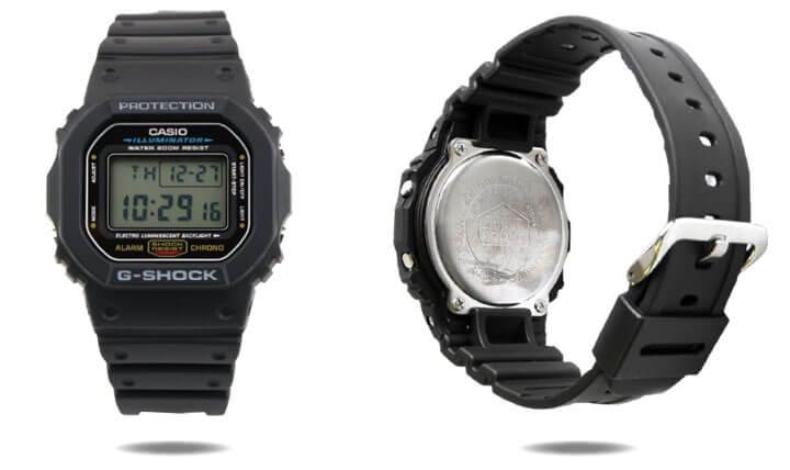 G-SHOCK DW-5600E-1V スピードモデル 表と裏蓋