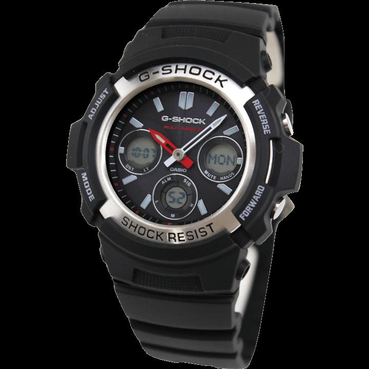 AWG-M100-1A ブラック(黒)×シルバー(銀)でコンパクトなG-SHOCK
