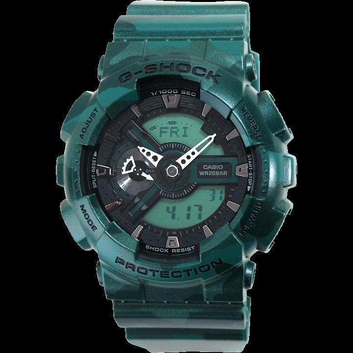 GA-110MM-3A グリーン(緑) メタリック 迷彩柄