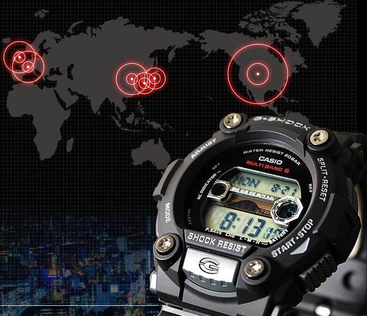 G-SHOCK マルチバンド6電波受信地図