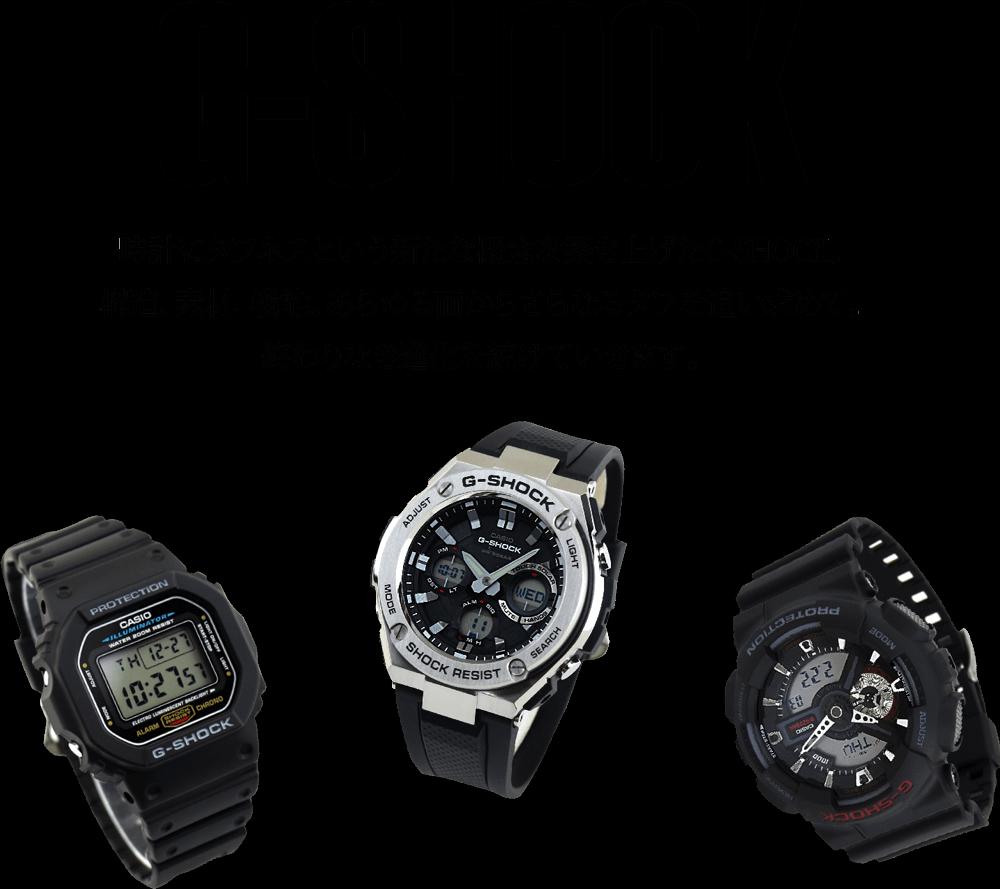 タイトルG-shock DW-5600E-1VとGSTとGA-110-1A