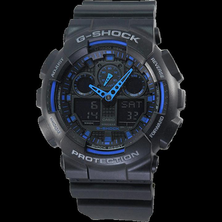 GA-100-1A2 ブラック(黒)×ブルー(青)