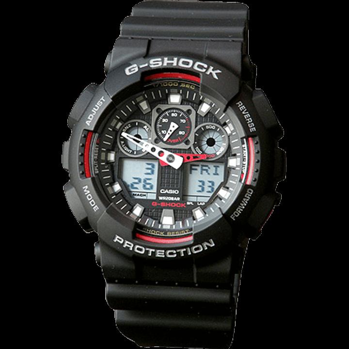 GA-100-1A4 ブラック(黒)×レッド(赤)