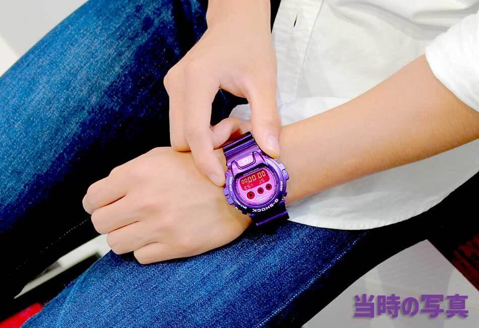 人気紫Gショック