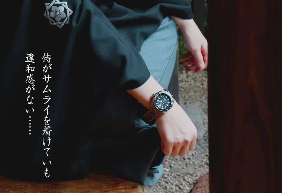 侍がサムライを着用