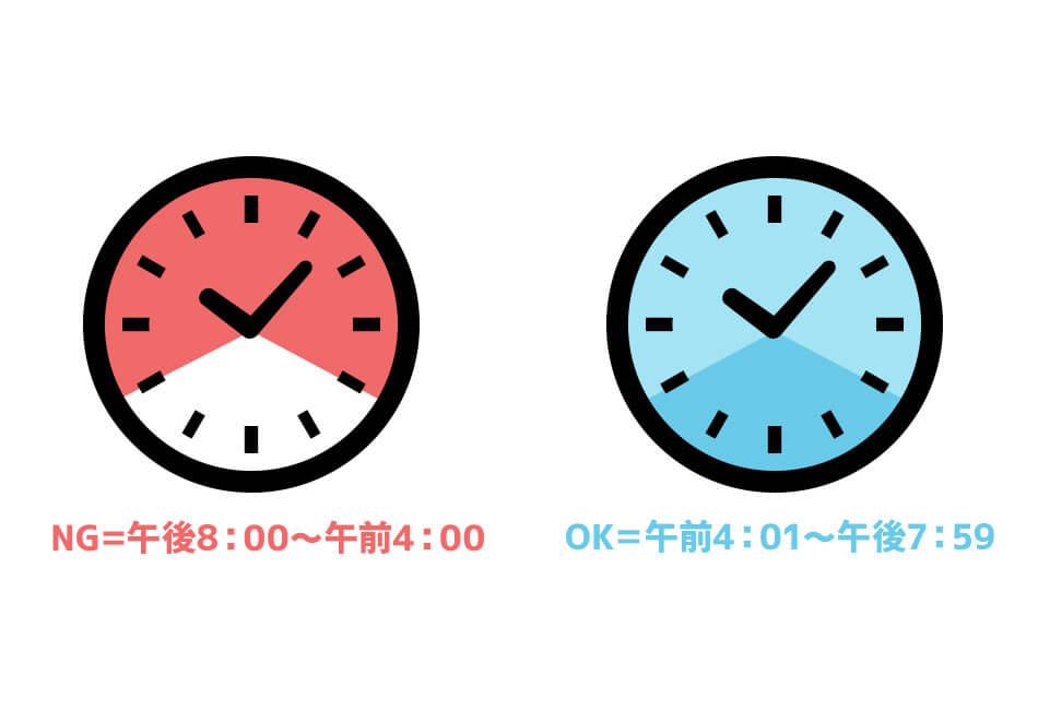 カレンダーを更新していい時間帯
