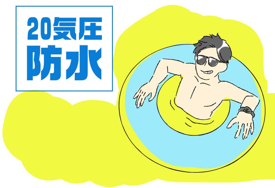 20気圧防水